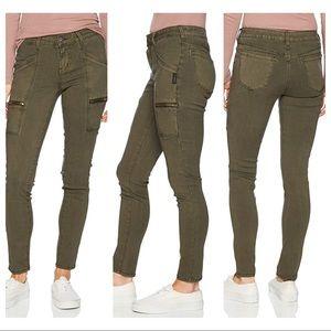 Silver Jeans Aiko Skinny Army Green SZ 31/29
